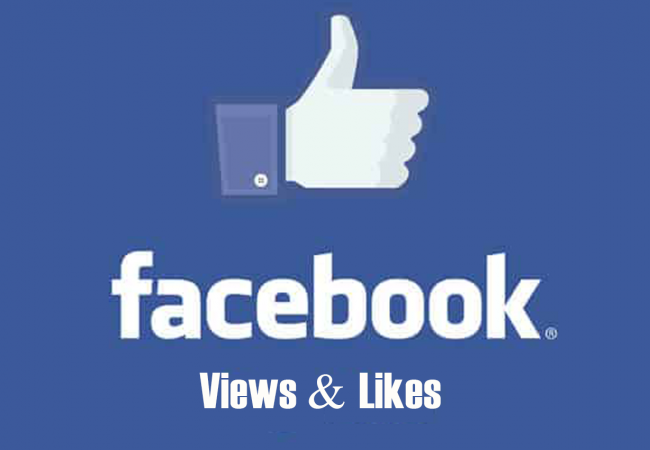 Facebook views and likes
