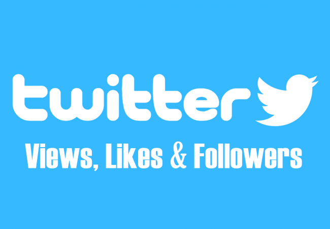 Twitter views, likes and followers